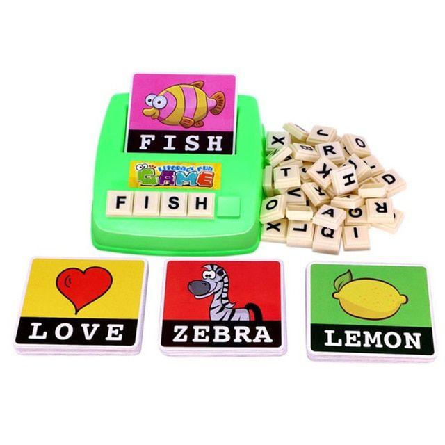 3d puzzle ejaan bahasa inggris huruf alfabet permainan awal belajar pendidikan mainan anak mainan untuk anak