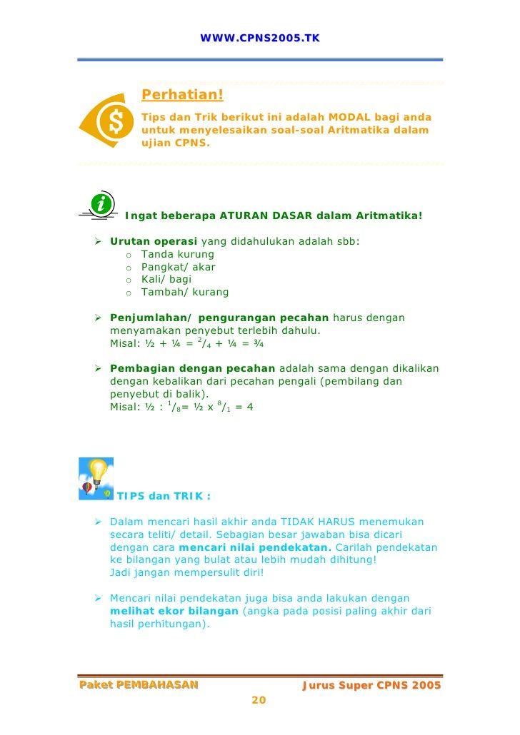 20 www cpns2005 tk perhatian tips dan trik berikut ini adalah modal bagi anda