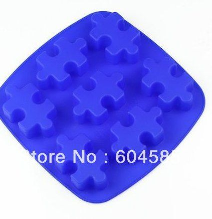 teka teki 7 cavity silicone cake mold chocolate craft permen baking cetakan