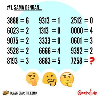 contoh teka teki matematik susah yang meletup untuk para ibubapa