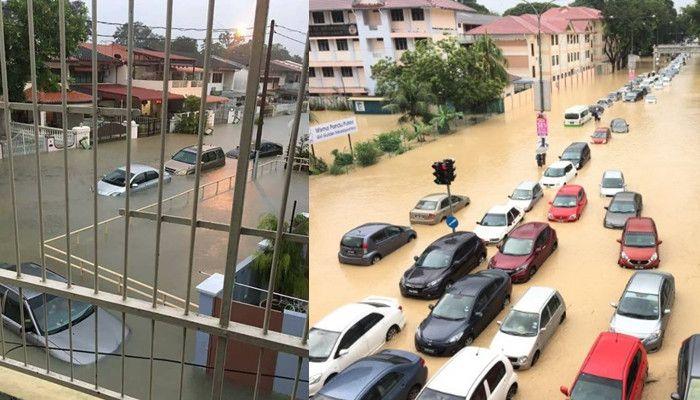 pulau pinang dilanda banjir besar ekoran hujan lebat hampir 10 jam