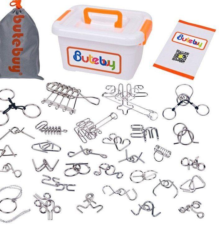 30 pcs set logam wire puzzle iq magic pikiran teaser otak teka teki permainan mainan untuk orang dewasa anak anak