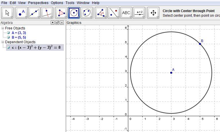 k x ln x a tekan enter lihat di free objects pada jendela algebra sebelah kiri akan muncul hasil nya