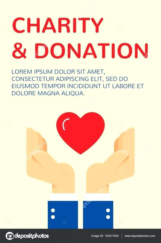 charity donation template charity and donation banner design template with vector graphic flat helping hands and red heart card flyer poster illustration