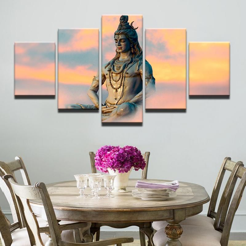 poster hd wall 5 pieces great india deities jpg