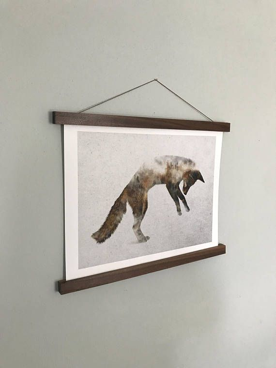 poster hanger print wall hanging picture frame wood wall