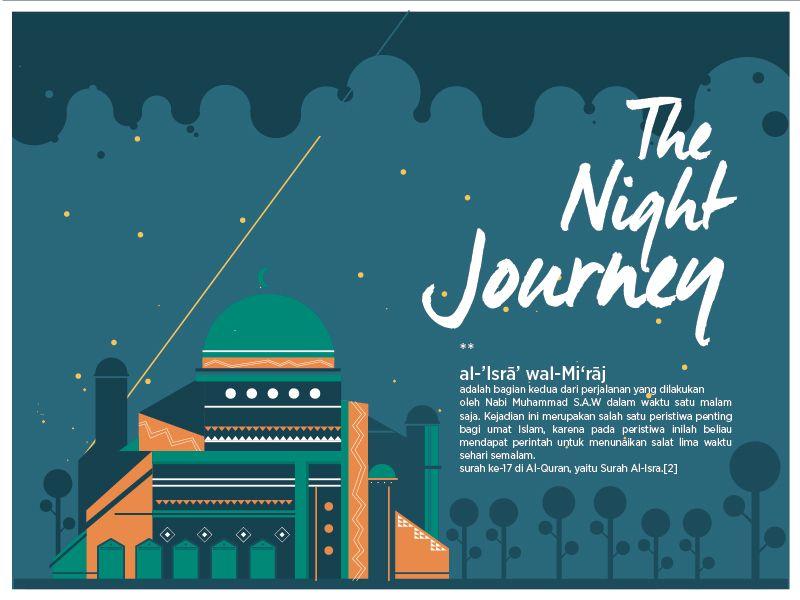 the night journey vector journey night the mosque miraj isra