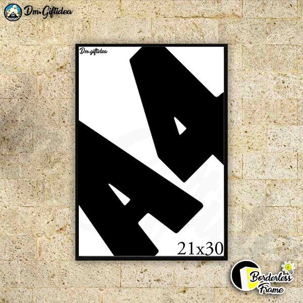 jual poster quotes ukuran a4 dengan bingkai borderless di lapak dm giftidea doublemgiftbox