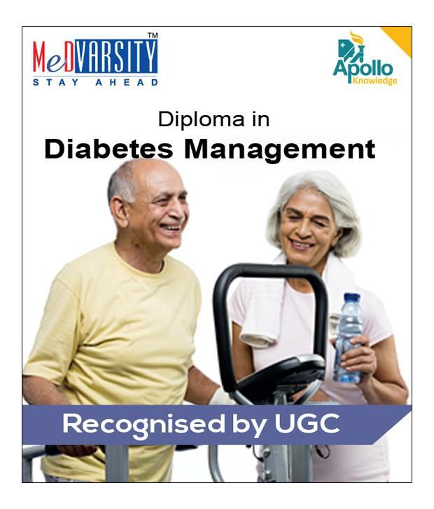 certified online course in diabetes management by medvarsity apollo hospitals accreditation by
