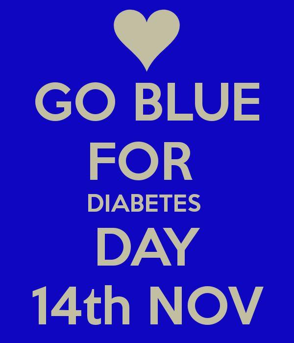 go blue for diabetes day 14th nov