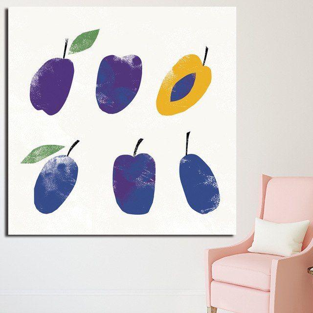 reliabli andy warhol pop art kanvas lukisan dinding buah dekorasi gambar untuk ruang tamu cetak poster