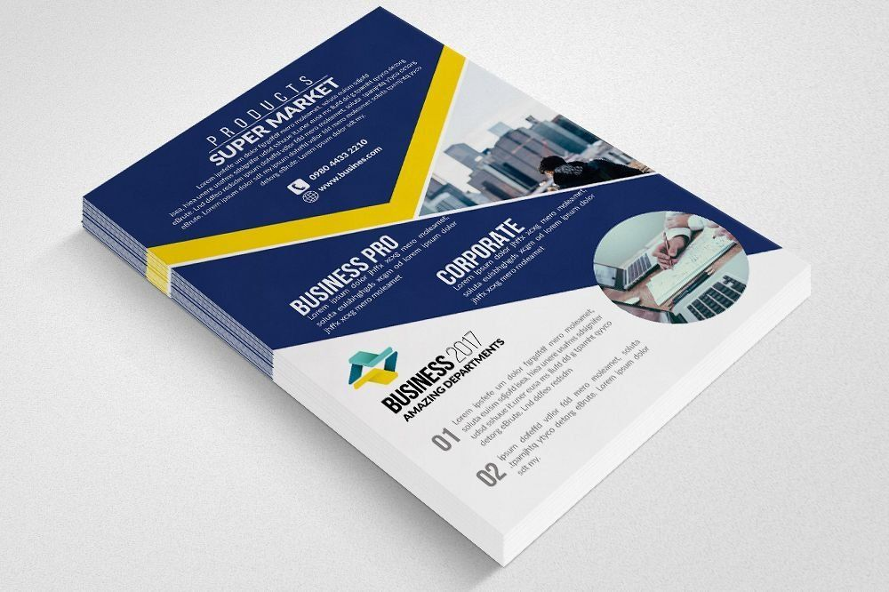 top business cards flyers brochures the flyer poster templates 0d product flyer template