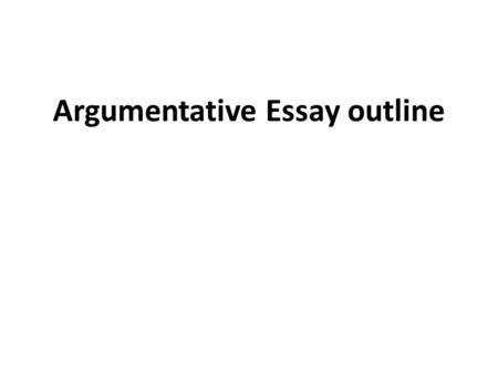 argumentative essay high school