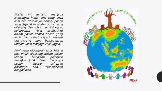 poster ini tentang menjaga lingkungan