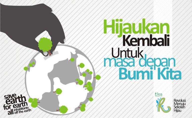 desain poster untuk dipasang di mading sekolah sma negeri 1 purwosari dalam rangkan mengajak dan mensosialisasikan pentingnya menjaga kelestarian lingkungan