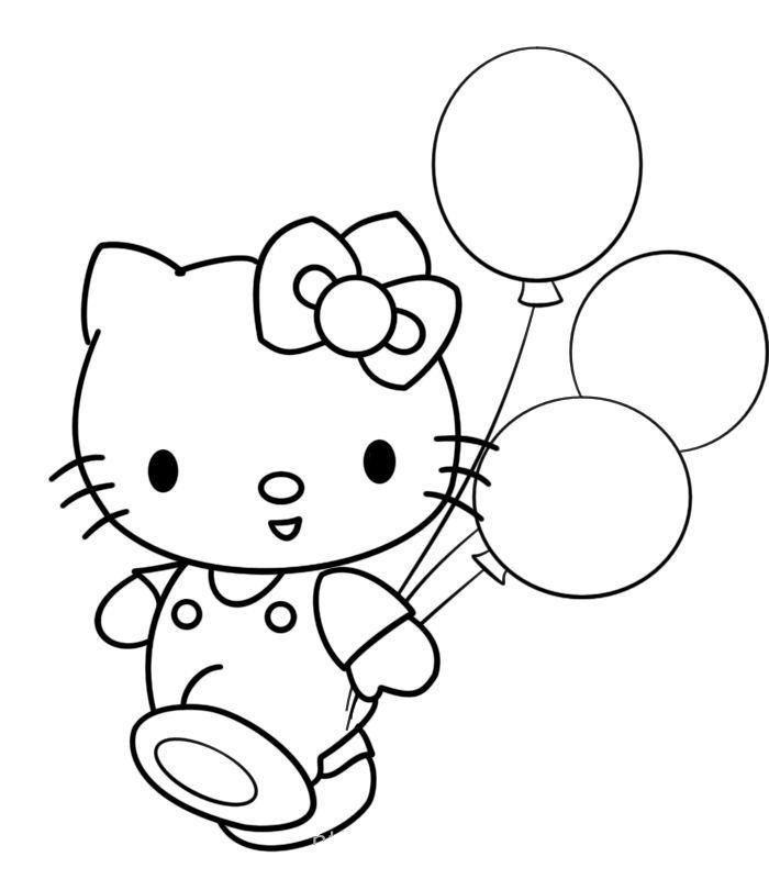gambar belon untuk mewarna terbaik hello kitty 4 gambar mewarna colouring picture
