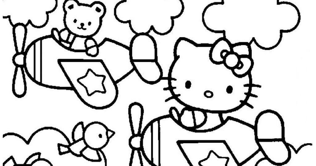 Poster Mewarna Hello Kitty Hebat Gambar Mewarnai Hello Kitty Mewarnai Gambar