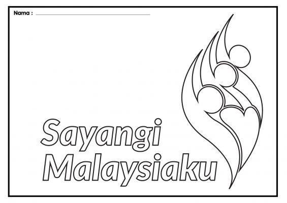 gambar mewarna kemerdekaan 2018 sayangi malaysiaku bernilai pusat internet