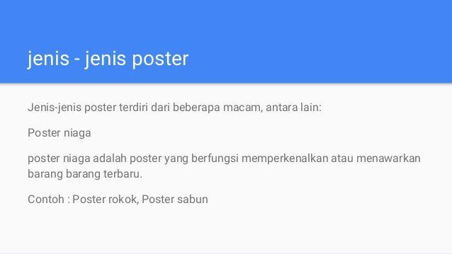 3 jenis jenis poster