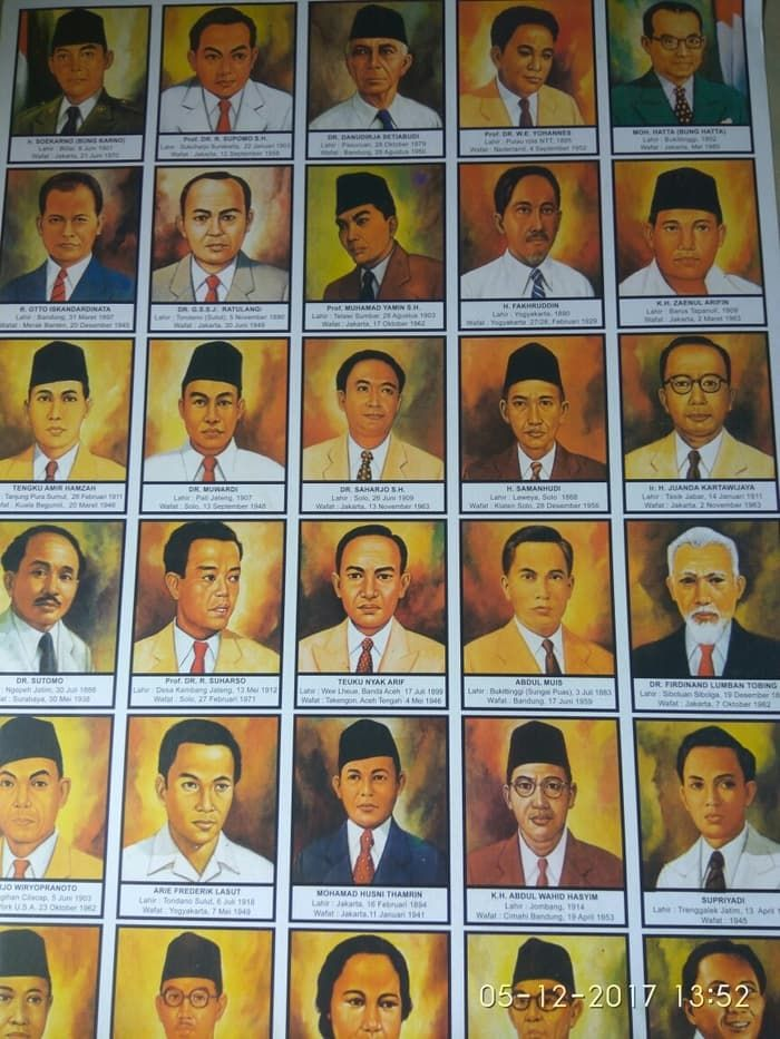 poster pahlawan nasional indonesia