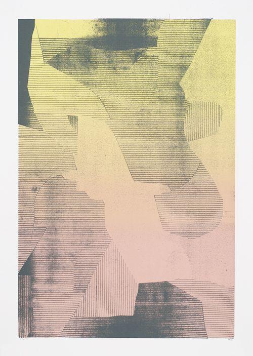 kalamitsi 2 by damien tran screenprint 50 x 70 cm 2 colors split fountain