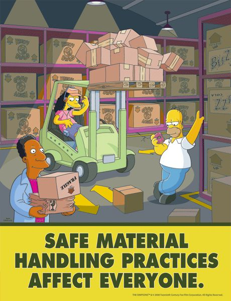 the simpsons safety poster 29 png