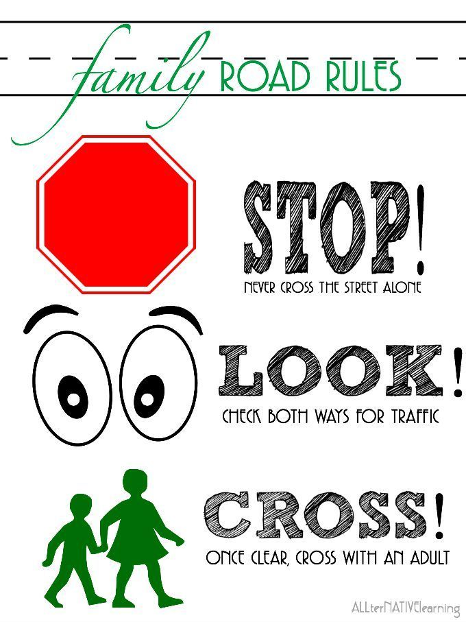 sign to print to help toddlers and preschoolers understand the rules of the road
