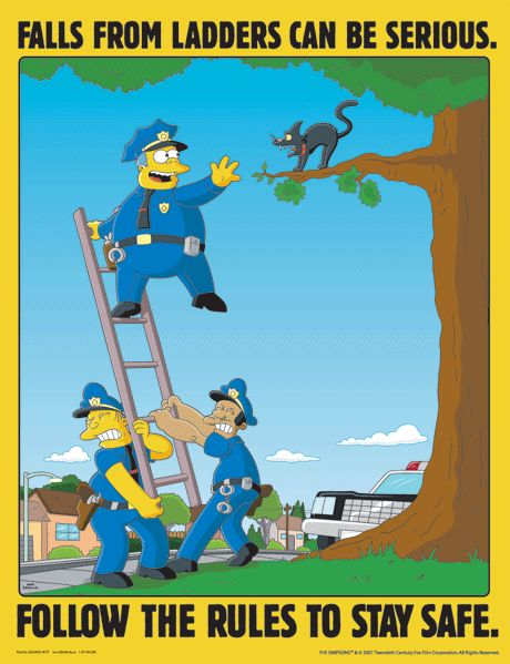 the simpsons safety poster 23 png