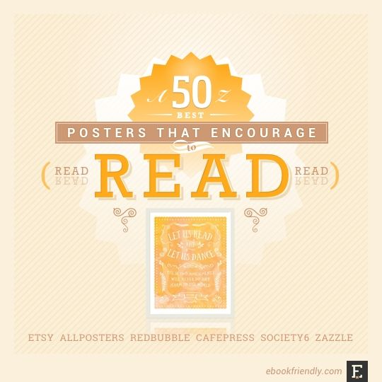 50 awesome posters that encourage to read graphic design posters for sale