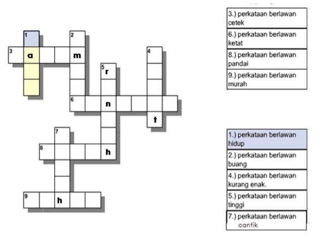contoh teka teki berserta jawapan yang penting untuk para murid