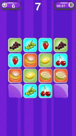 permainan memori buah buahan tangkapan skrin 3