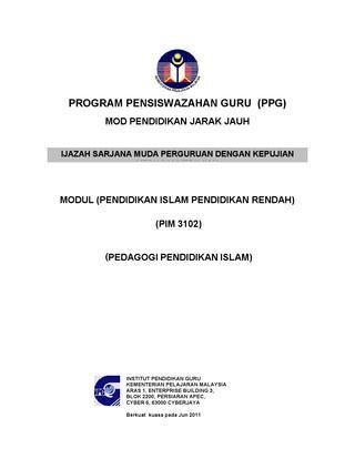 page 1 pedagogi pendidikan islam