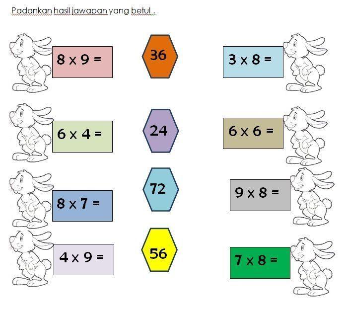 pentaksiran akhir tahun matematik tahun 2 bermanfaat latihan darab matematik kssr tahun 3 worksheet pinterest of