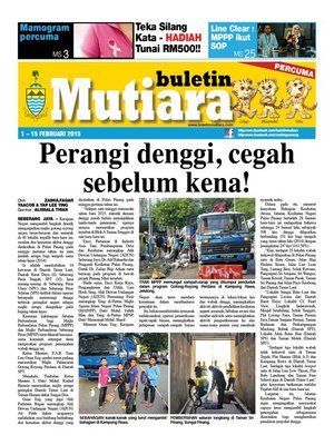 cover image of buletin mutiara 1 15 feb 2015