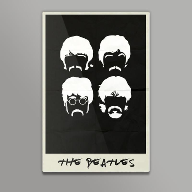 the beatles minimal album art metal prints artist naman kapoor postergully