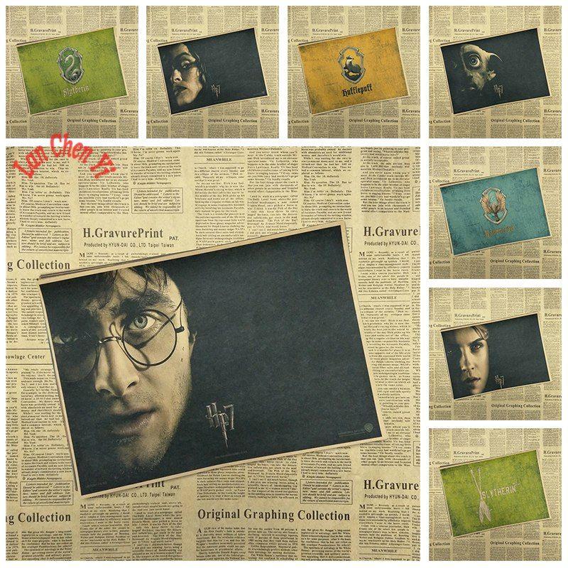 aliexpress com beli harry potter gambar inti klasik film kertas kraft poster bar cafe lukisan ruang tamu ruang makan dinding dekoratif dari handal kraft