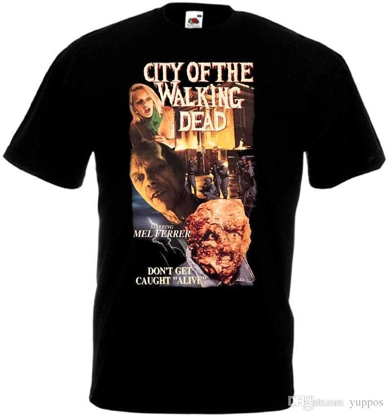 city of the walking dead t shirt black movie poster all sizes s 5xl ver 3men s shirts men clothes novelty cool t shirt with a t shirt on it best deal on t