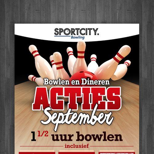Bowling Poster Bernilai Bowling Centre Flyer Postcard Flyer or Print Contest