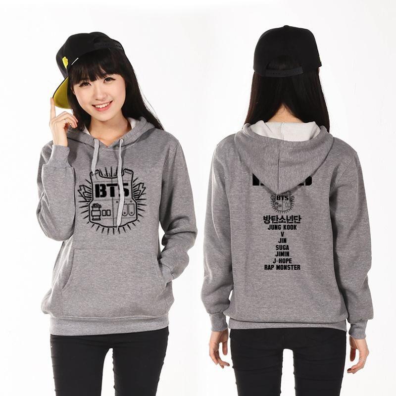 2019 k pop sweatshirt clothes t shirt women sportswear bangtan boys album bts poster seventeen kpop korean hoodie collar stand sudaderas shirt from
