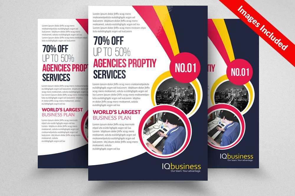 business cards flyers brochures the flyer poster templates 0d business leaflets