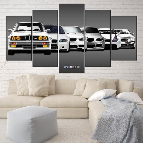 bmw m3 96 sports car canvas