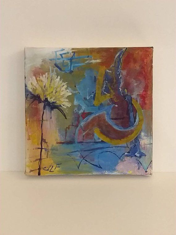 this is some of my symbols an original acrylic painting on canvas by jlf
