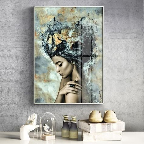 beautiful abstract canvas poster of a girl for wall decor for 19 00 abstract and modern canvas poster of a beautiful girl to decor your walls