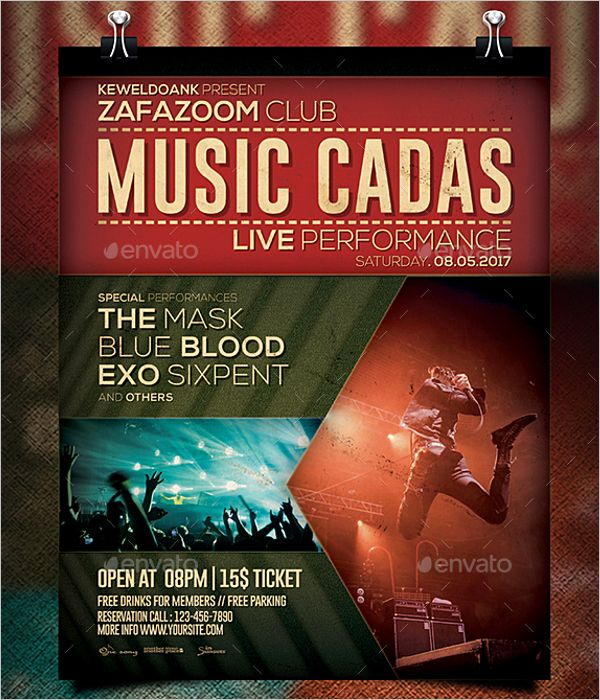 designs free concert poster template photoshop fresh 47 music poster templates free amp