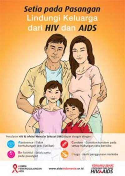 kampanye untuk mencegah penyebaran dan penularan penyakit hiv aids di indonesia terus dila contoh poster hiv