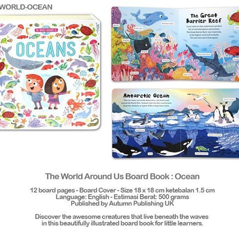 the world around us board book ocean idr 100 000 12 board pages board cover
