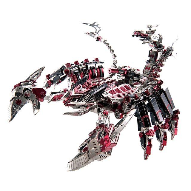746 pcs set 3d logam puzzle diy pertempuran robot kalajengking model merakit model kit