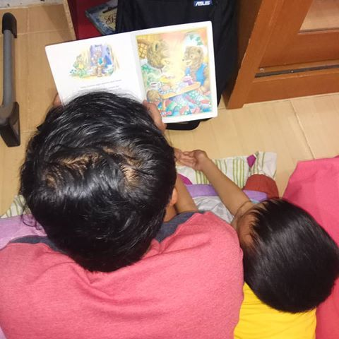 cc ayah indra milyardi ritual membaca sebelum tidur malam per hari kemaren si abang tetap saja