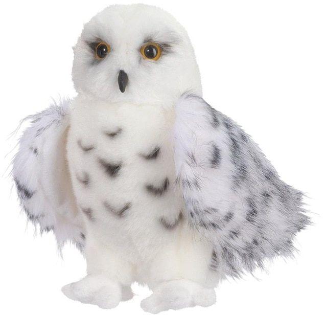 dunia sihir cuddle mainan boneka wizard snowy owl 8 inch duduk boneka burung hantu bersalju wizard