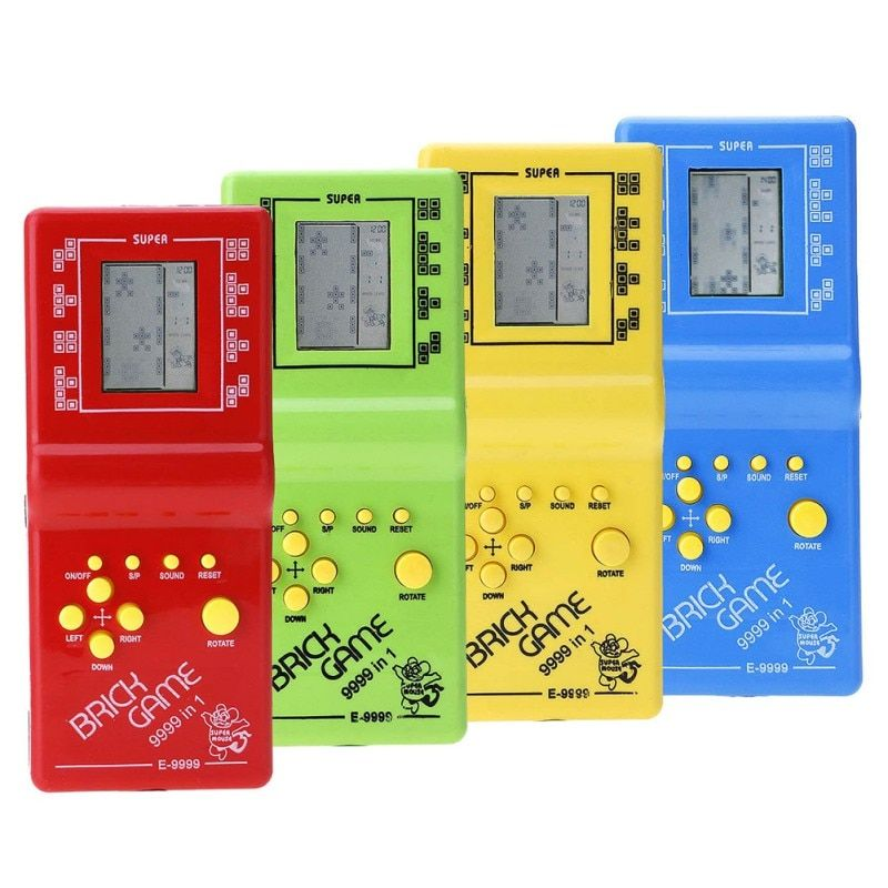 anak anak klasik game tetris hand held lcd permainan elektronik mainan menyenangkan bata permainan teka teki permainan konsol genggam chirldren di mainan